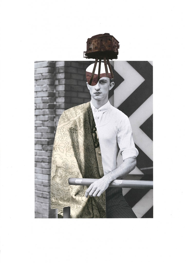 Collage 'WAR HEAD #1'