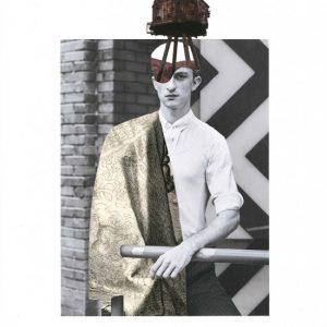 Collage 'WAR HEAD #1'