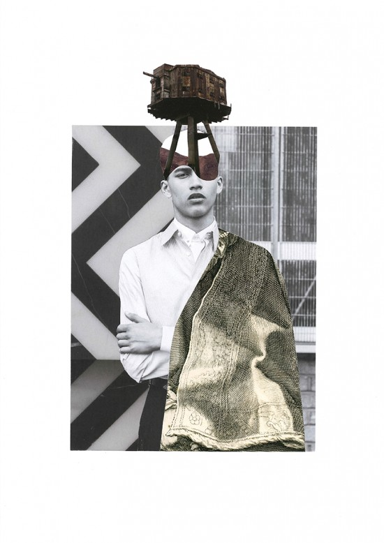 Collage 'WAR HEAD #2'