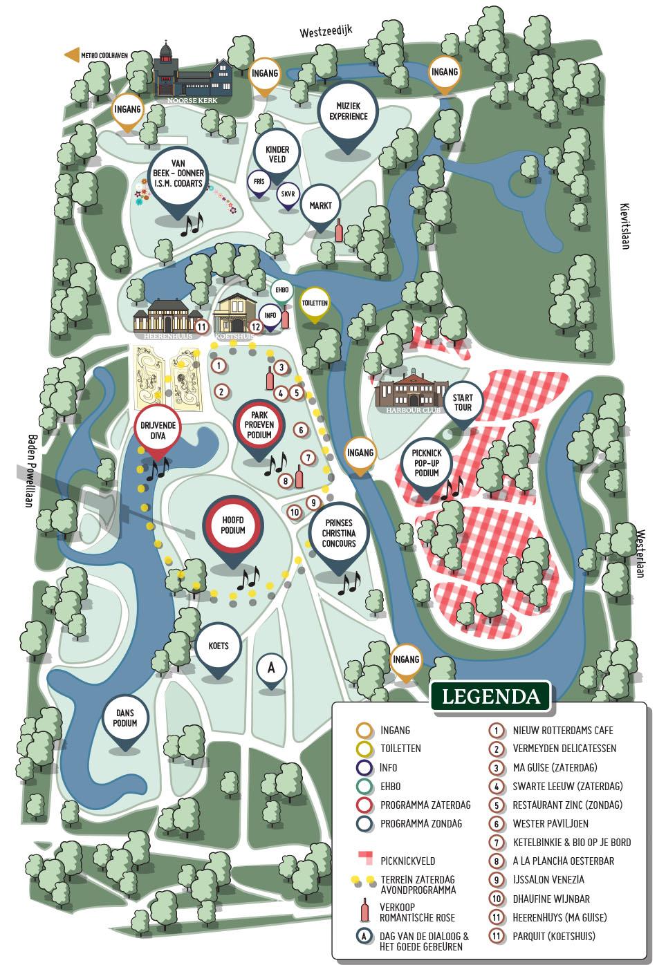 Park map Dag van de Romantische muziek