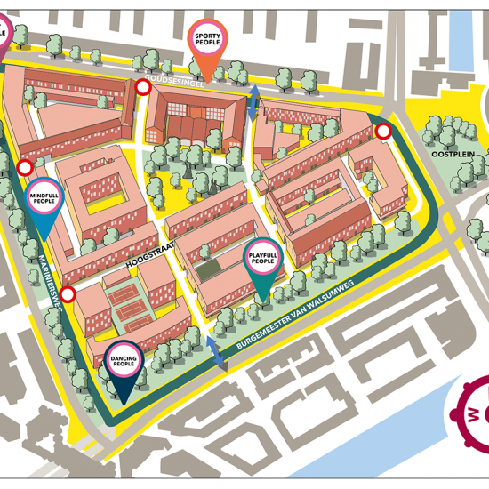 Map Hoogkwartier Rotterdam